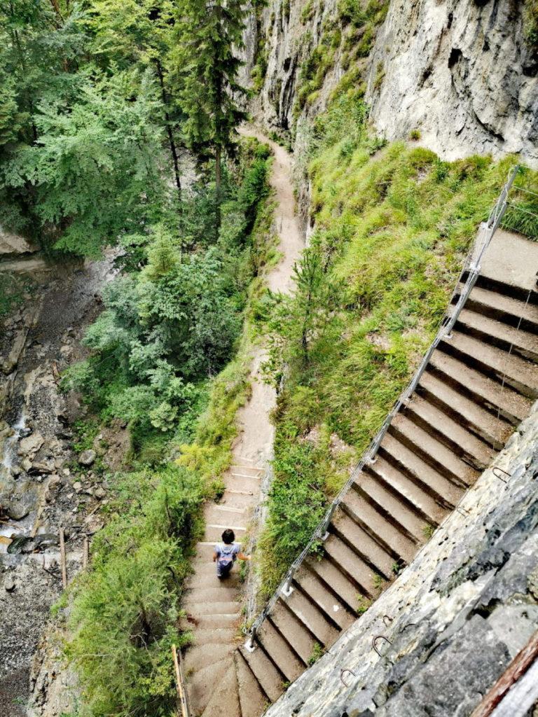 Steile Treppe in der Karwendel Klamm