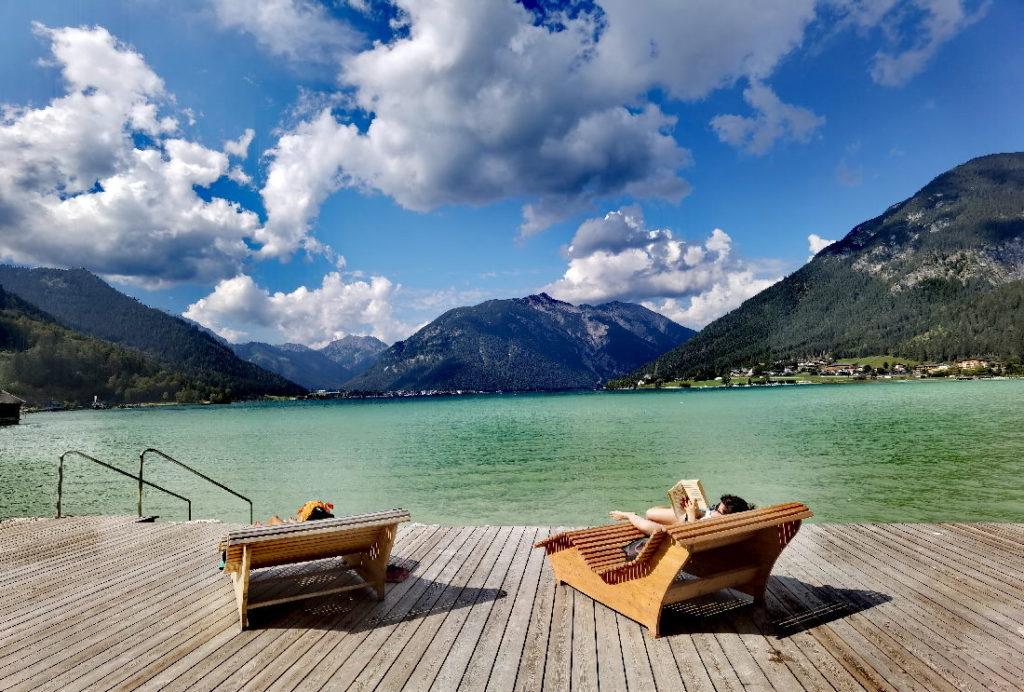 Der Blick über den Achensee ins Karwendel