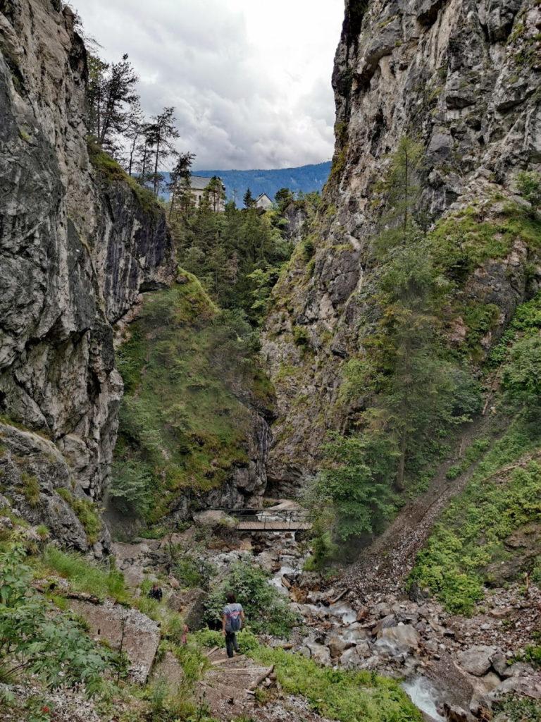 Die Ehnbachklamm im Karwendel bei Zirl