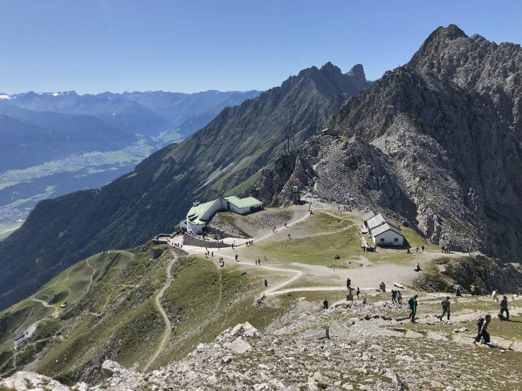 Auf der Nordkette oberhalb von Innsbruck - das Hafelekar